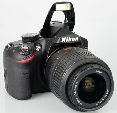 Aparat foto DSLR Nikon D3200 cu obiectiv 18-55mm