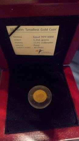 Moneda aur 24k ,cu certificat.