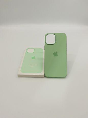 Husa apple silicon cu magsafe pentru iphone 12 pro max pistachio