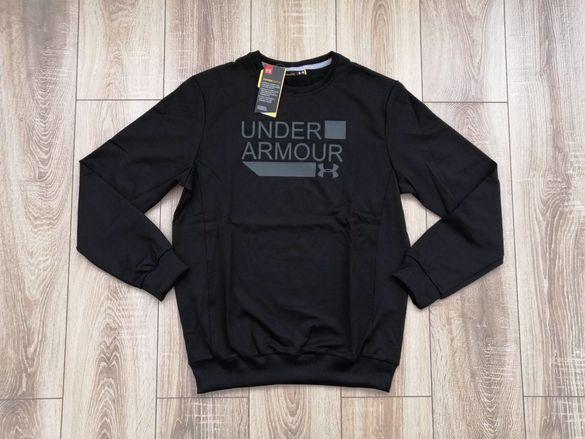UNDER ARMOUR UA 1885 мъжки тениска суичър в черен цвят  L XL XXL XXXL