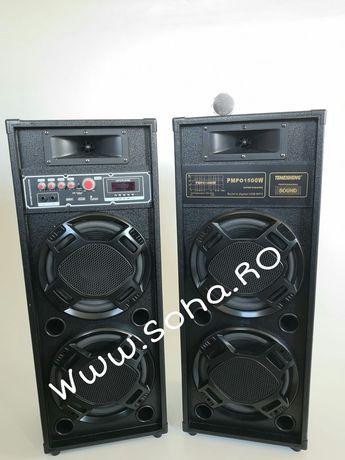 Boxe active Temeisheng 2308, 1500W, bass 4x25 cm Microfon CAdou!