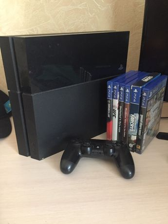 PS4 fat 6 игр диск + на консоли ТОРГ + PS camera