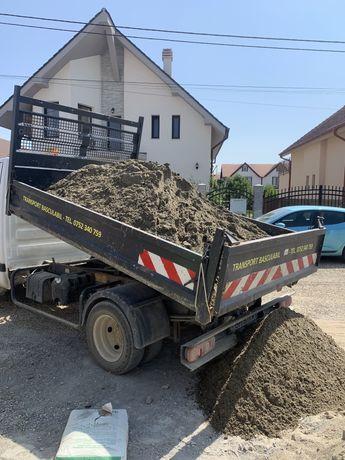 Nisip,pietris,pamant gazon,hamucamoloz,beton,materiale constructii.etc