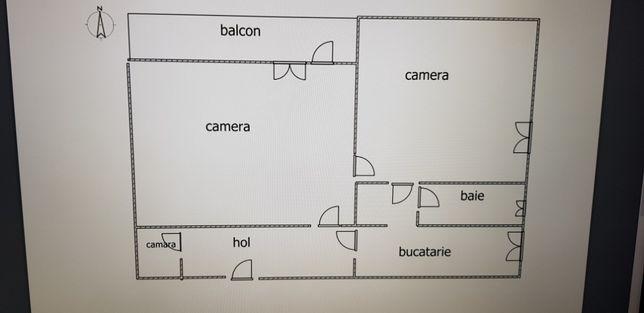 schimb apartament 2 camere cu 3 camere