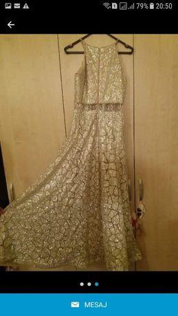 Rochie de seară culoare bej