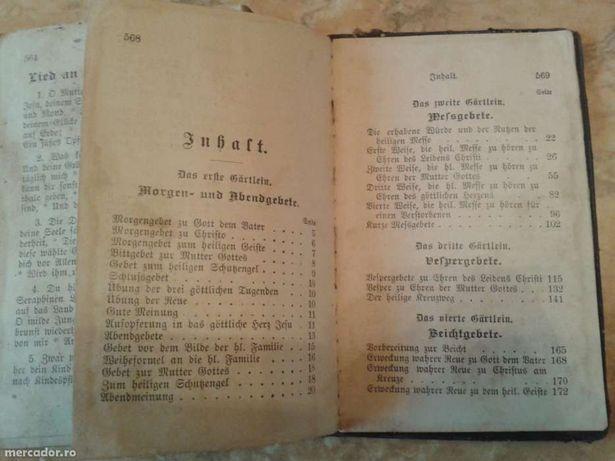 Colecție cărți religioase vechi - limba germana