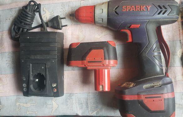 Винтоверт Спарки със стари батерии за възстановяване Sparky BR 15E
