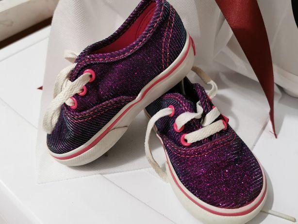 Teniși Vans bebeluși fetițe mov cu sclipici / glitter mărimea 20