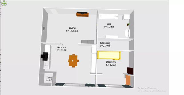 Apartament cu 3 camere la preț de 2 camere