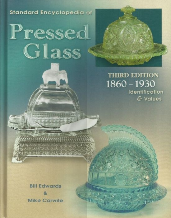 Cartea Standard encyclopedia of pressed glass, antichitati STICLA