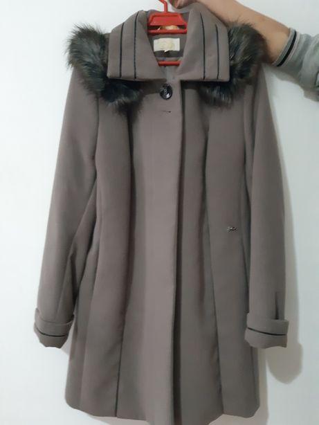 Palton/pardesiu de dama gri deschis iarna/toamna