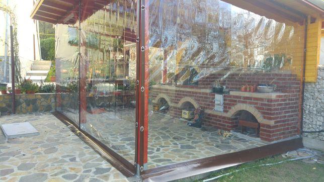 Acoperiri cu pereti transparenti terase