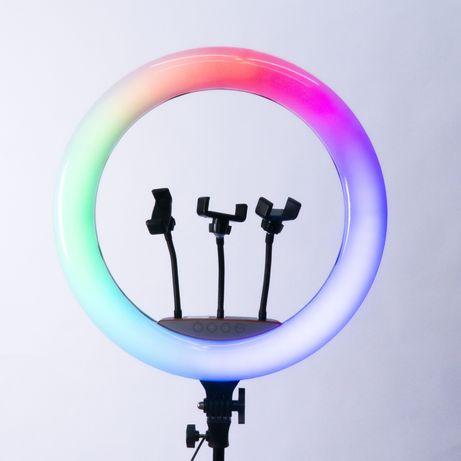 Мощная, Яркая, Большая Кольцевая лампа 45см RGB LED LIGHT