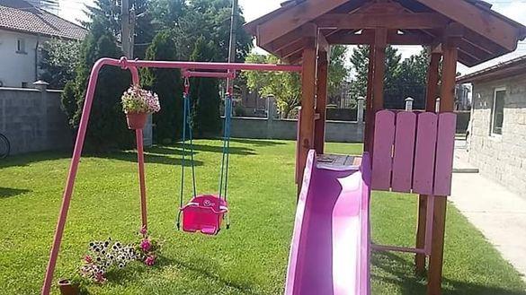 Детска къщичка с пързалка и люлка (РАЯ)