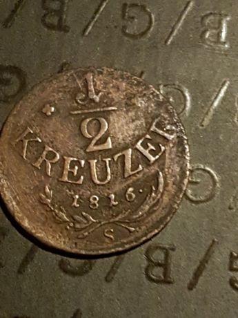 Moneda veche 1/2 kreuzer 1816 S