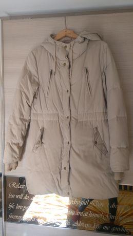 Дълго яке/ шуба с естествен пух, размер С, цена 29 лв