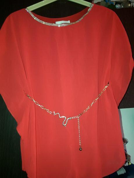 bluza rosie eleganta xl