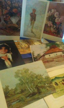 Carti postale  (felicitări) cu picturi celebre