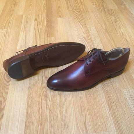 Pantofi Derby maro coniac, Denis