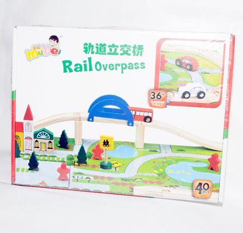 Jucarie din lemn - Pasaj feroviar