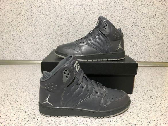 ОРИГИНАЛНИ *** Nike Air Jordan 1 Flight 4 Premium Leather BG / Grey