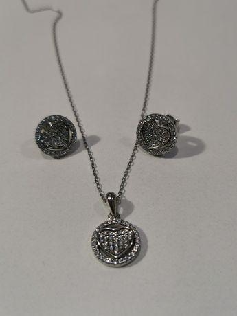 Set bijuterii argint - cadou pentru ea - lant, pandantiv si cercei