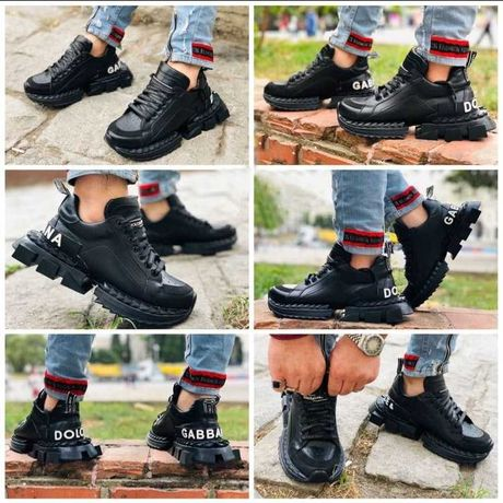 Adidasi Barbati Dolce & Gabbana Super King Full Black!