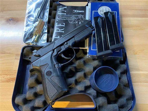 Pistol Airsoft Beretta/Modificat la 4,7jouli+Test Manson din OTEL NOU!