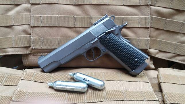 Pret PROMOTIONAL upgradat 4.5j Colt 1911 FullMetal Pistol airsoft co2