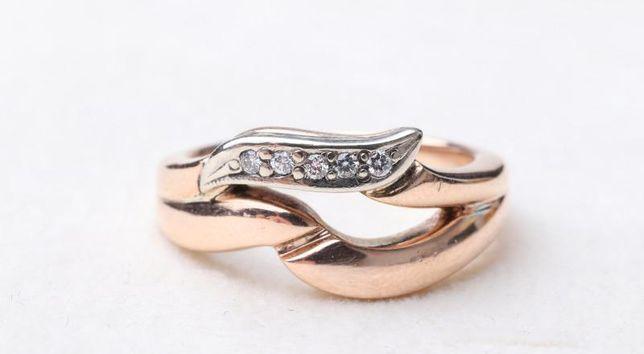 Кольцо с бриллиантами, золото 585 Россия, вес 5.20 г. «Ломбард Белый»