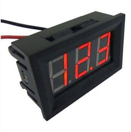LED Цифров волтметър 4.5V-30V за вграждане в автомобили,мотори,камиони