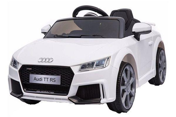 Masinuta electrica Kinderauto Audi TT RS 2x 30W STANDARD 12V #Alb