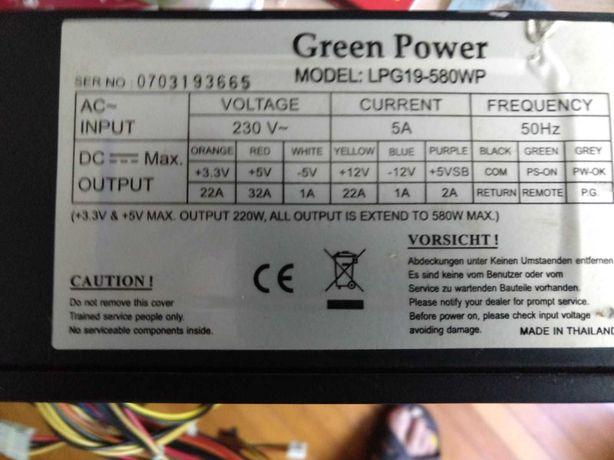 Sursa ATX PC Green Power LPG19-580WP 580W