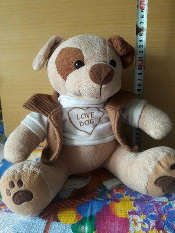 Собака Love Dog.Мягкая игрушка.Высота 25 см.