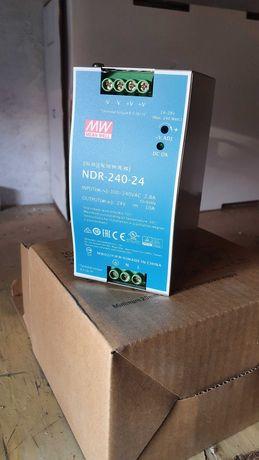 NDR-240-24, Источник питания, Блок питания, 24В, 10А, 240Вт MEAN WELL