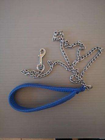 повод синджир със синя дръжка