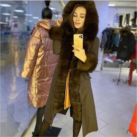 Натуральные женские куртки. Парка с мехом.