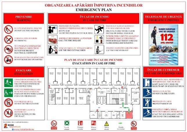 Planuri de evacuare în caz de incendiu