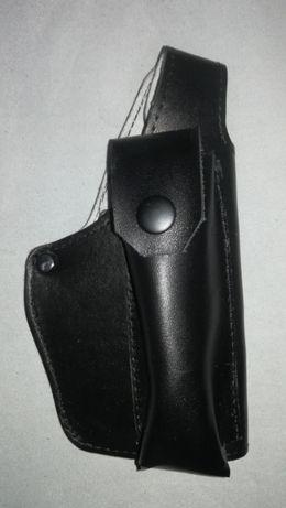 Toc din piele pistol Glock 17 cu buzunar portincarcator