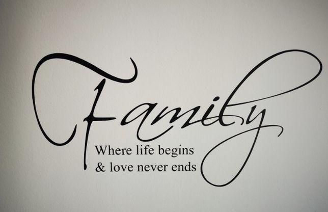"Ultimul Sticker de perete ""Family where life begins & love never ends"""
