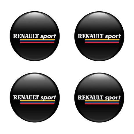 3D Силиконови стикери за капачки на джанти Renault размери 40-120 мм