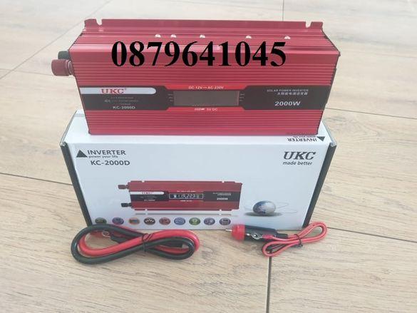 Инвертор UKC 2000W ,1000w,500w 12V / 24V / 220V, Инвертер 2000В
