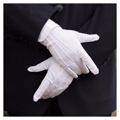 Manusi Perfect Albe Pentru Costum , Mos Craciu , Tuxedo , Frac si Alte