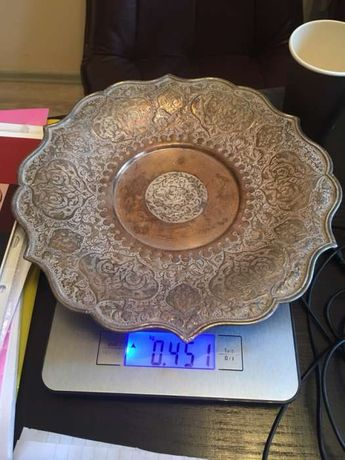 Argint masiv 900-platou persan 451 grame