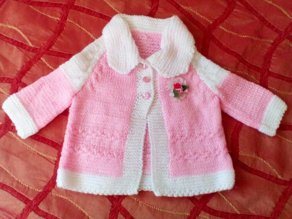 Детско палтенце 6-9 м., ръчна изработка