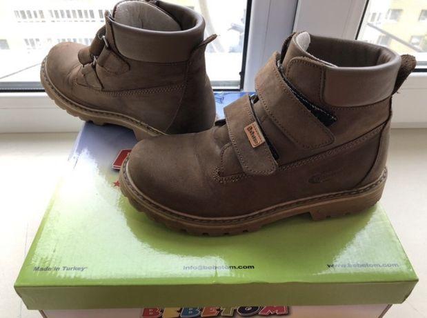 Осенние ботинки Bebetom Зимние кожаные ботинки турция бибитом