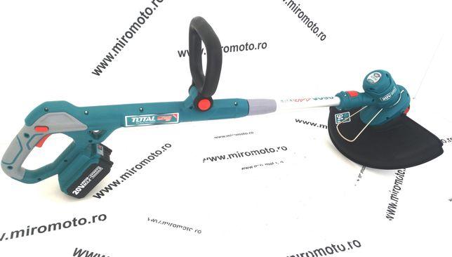 Trimmer electric Motocoasa Total 7800 rpm, alimentare baterie Li-Ion