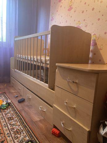 Продам детскую кроватку-трасформер