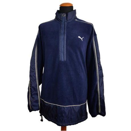 Jacheta vintage Puma retro barbati albastra polar marimea XL-XXL G24