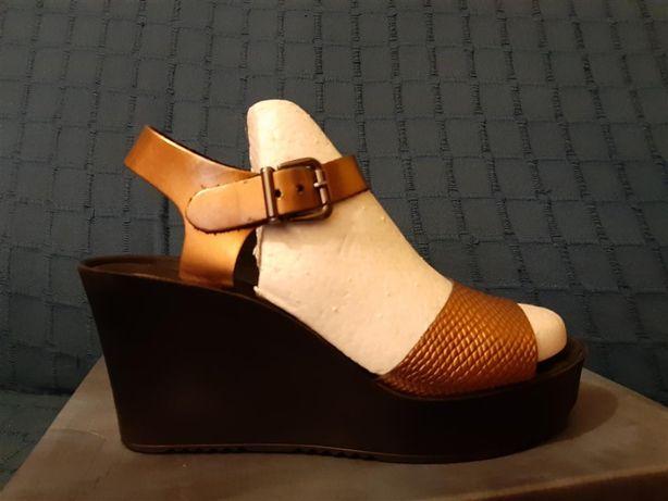 Sandale/ platforme VICINO, din piele, marimea 38